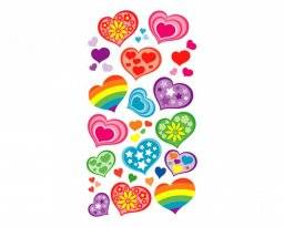 Stickerfun 450 hearts funky | Purple peach