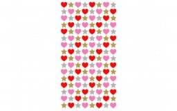 Stickerfun 403 hearts & stars | Purple peach
