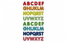 Stickerfun 413 alphabet | Purple peach
