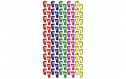 Stickerfun 427 coloured feet | Purple peach