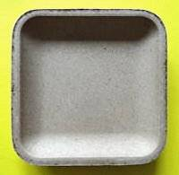 Mdf vierkante schaal ronde hoek