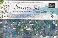 Strass set green glaze | Rico design