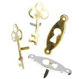 Brads slot&sleutel metal 585-49 | Rayher
