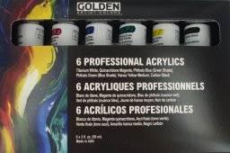 Acrylverf heavy bodyset 6 tubes | Golden