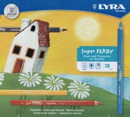 Super ferby potloden blik 18 st | Lyra