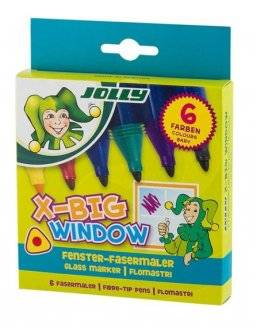 X-Big Window 6 glasstift | Jolly