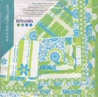 Papierset 2048 linden-aqua | Artemio