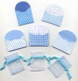 Mini-envelopjes 5501 bleu