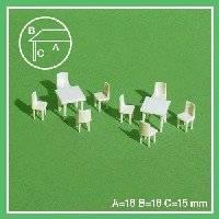 2 tafels en 8 stoelen  55-50704 | Schulcz