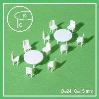 2 rondtafels +10 stoel 55 50805 | Schulcz