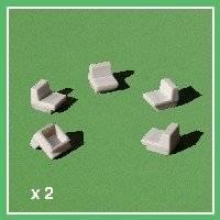 Fauteuil zak 10 stuks  55-1704 | Schulcz