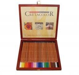 Pastelpotloden in kist 24 kleur   Cretacolor