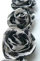Flowerribbon 1104 ivoor-zwart   Marianne design