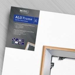 Linnendoek aluminium raam 25mm | Museo