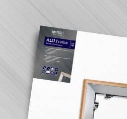 Linnendoek  aluminium raam 3D | Museo