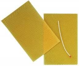 Honingraat bijenwas 3 vel   Hobby time