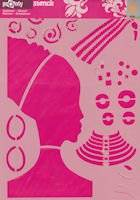 Sjabloon A4 438.042 africa girl   Pronty
