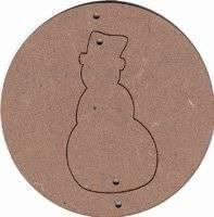 Mdf kersthangers met sneeuwpop | Pronty