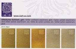Glitterkarton set goud | Cart us