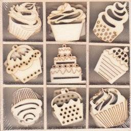 Houten ornamentbox 1572 cupcakes | Artemio