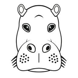 Crazymals masker hippo 14030038 | Artemio