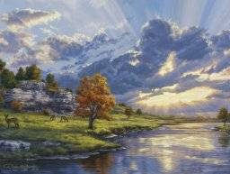 Schilder nummer PBNACL17 river | Reeves