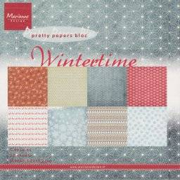 Pretty papers bloc 9100 winter | Marianne design