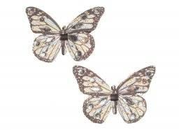 Vlinders op clip 5cm  6.7101 | Hobby time