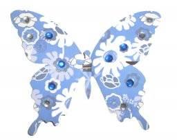 Vlinders op clip 8cm  6.7101 | Hobby time