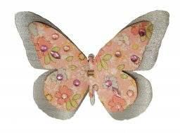 Vlinders op clip 9,5cm  6.7101   Hobby time