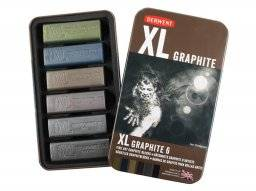 XL graphite blik met 6 stuks   Derwent