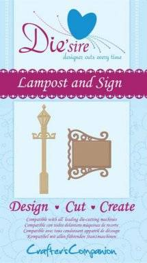 Die-sire lampost and sign | Crafters companion