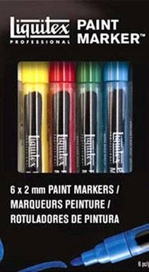 Paint marker set 6 x 2mm | Liquitex
