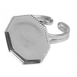 Ring met motiefvorm 8hoek 355-22 | Rayher