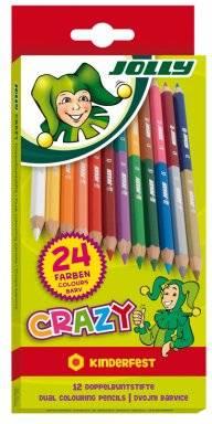 Kleurpotloden crazy 12st | Jolly