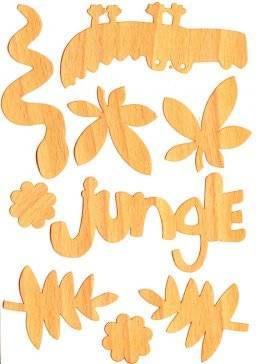 Houten stickers 008 jungle | Pronty