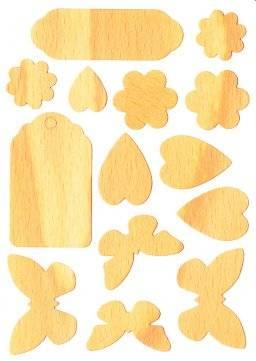 Houten stickers 007 butterfly | Pronty