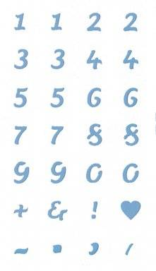 Sjabloon 6.8619.404 cijfers | Hobby time