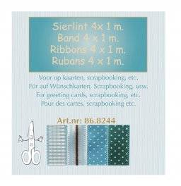 Sierlint set blauw 8244 | Leane creatief