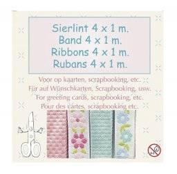 Sierlint set blauw/roze 8732 | Leane creatief