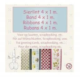 Sierlint set ruit/bloem 8749 | Leane creatief
