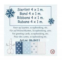 Sierlint set blauw/stippen 8411 | Leane creatief