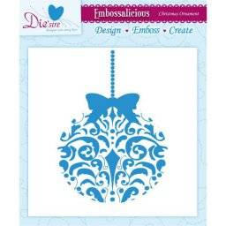 Embossalicious x-mas ornament | Crafters companion