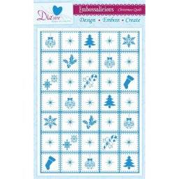 Embossalicious x-mas patchwork | Crafters companion