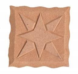 Mdf ornament 315 vierkant ster | Pronty
