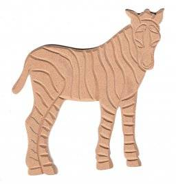 Mdf ornament 919 zebra | Pronty