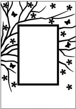 Embossing folder EFE008 rectang | Nellie snellen