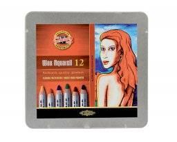 Wax aquarell potloden set 12 st | Koh-i-noor