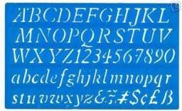 Lettersjabloon italic 20mm H23 | Helix