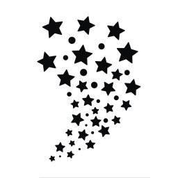 Schminksjabloon sterren 38-839 | Rayher